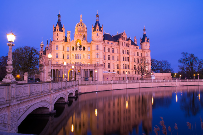 Schwerin Schloss Nachtaufnahme